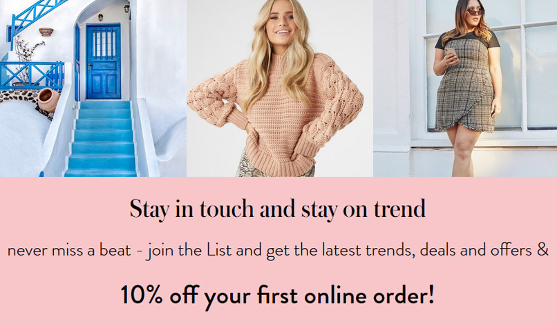 10% off your first online order