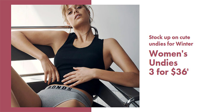 Women's Underwear 3 for $36