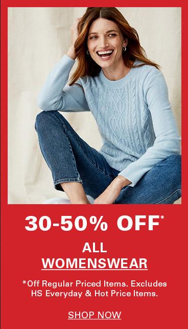 30-50% off All Womenswear