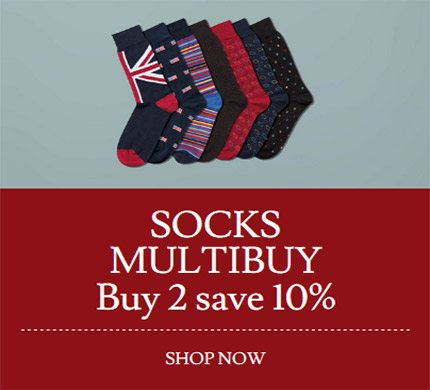 Socks Multibuy Buy 2 save 10%