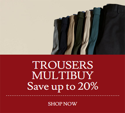 Trousera Multibuy  Save up to 20%