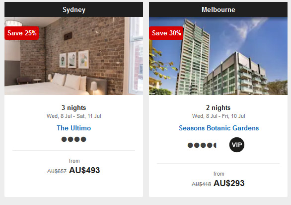 51% off select hotels