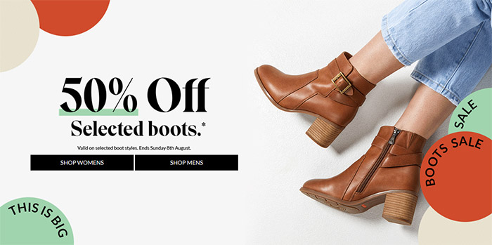 50% Off Selected boots
