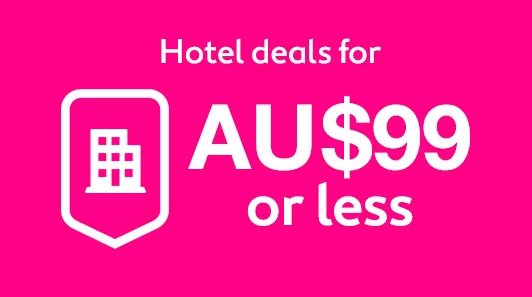 hotel deals for au$99 or less