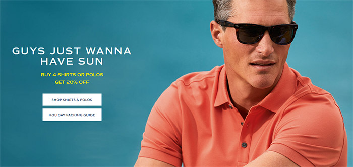 SHIRTS & POLOS SAVE UP TO 65%