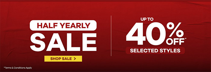 Up to 40% off Selected styles