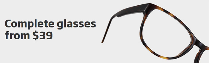 Complete glasses from $39