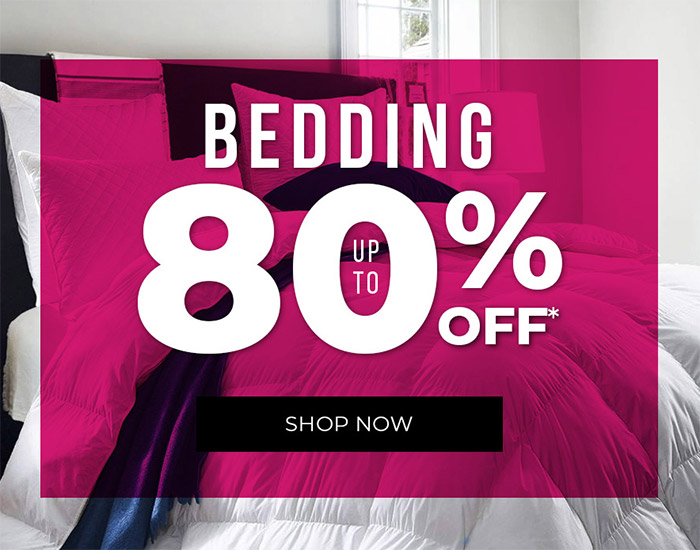 Bedding Up to 80% off
